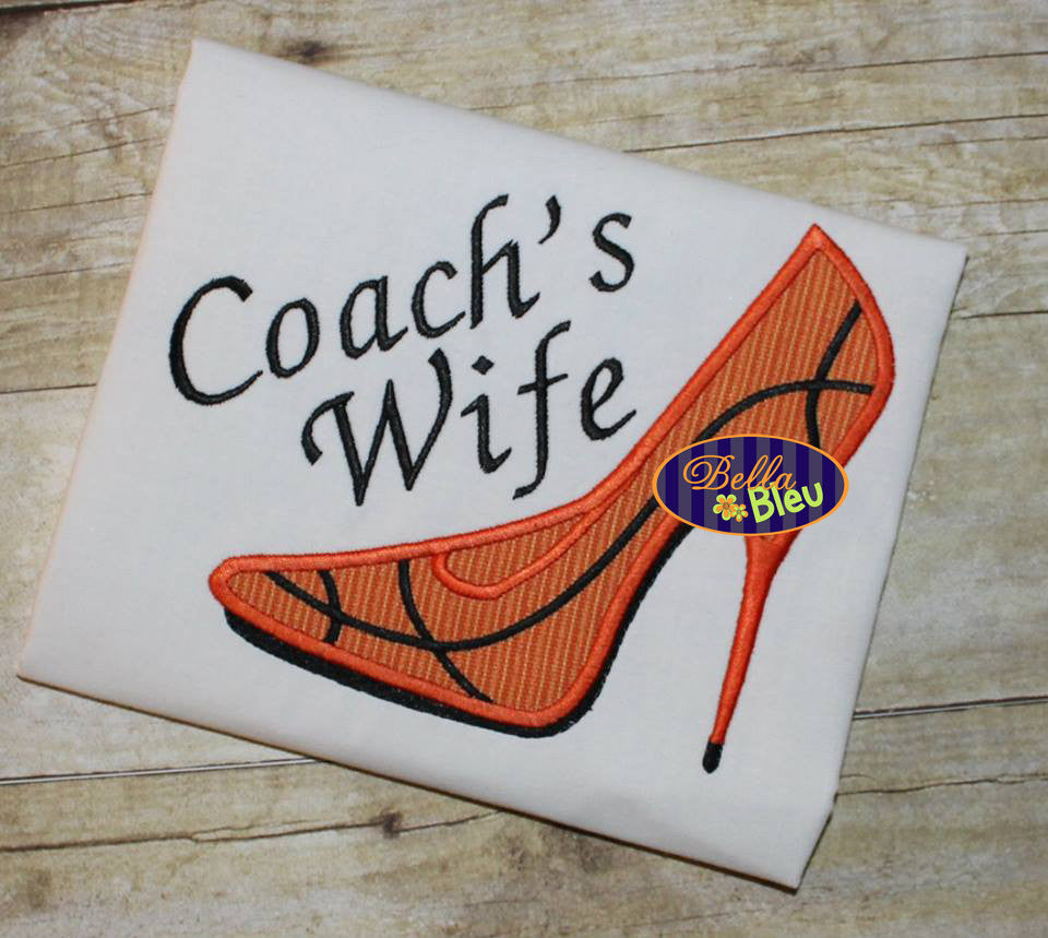 Sexy Basketball Heels Applique Embroidery Designs Design Monogram