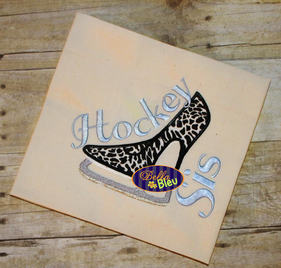 Sexy Hockey Ice Skating Heels Applique Embroidery Designs Design Monogram