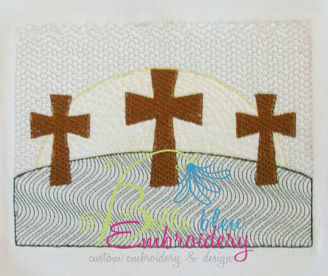 Faux Smocking Smock Smocked Cross He is Risen Easter Religious Machine Embroidery Design