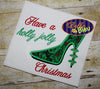 Sexy Christmas Holly Heels Heel Applique Embroidery Designs Design