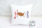 Home with USA Saying Machine Embroidery