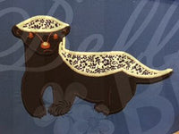 Honey badger Badger Animal Applique Embroidery Design