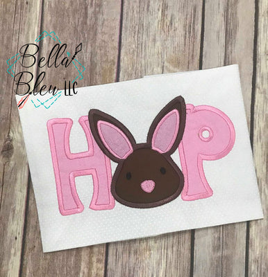 Hop Easter Bunny saying Machine Embroidery design 8x12