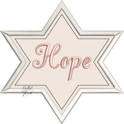 Hope Star Religious Machine Applique Embroidery Design