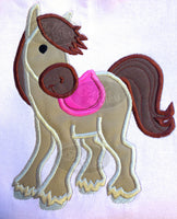 Applique Regal English Western English Horse Machine Embroidery Design