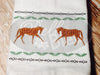 Stunning Horse Walking faux smocking design silhouette