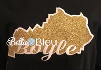 Kentucky State Applique with Boyle Signature