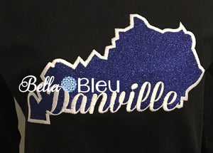 State of Kentucky & Danville signature applique machine embroidery design