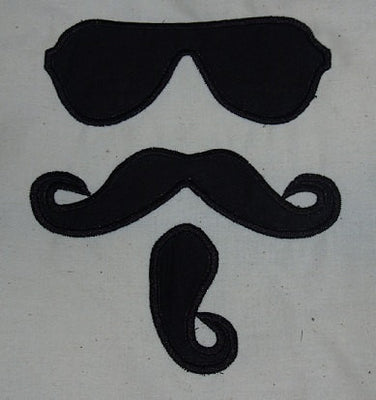 Mustache Sunglasses Rico Sauve Applique Embroidery Designs