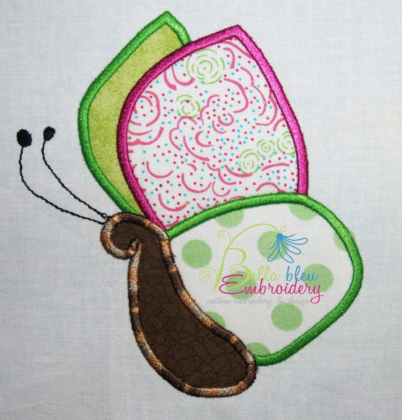Spring Butterfly Applique Machine Embroidery Design