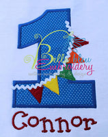Birthday Age Raggy Banner Bunting Number Set Embroidery Applique design machine embroidery