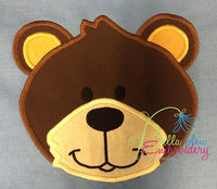 Zoo Animal Black Bear Applique Embroidery Designs Design