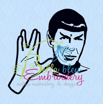 Inspired Star Trek Spock Filled Machine Embroidery Designs Design