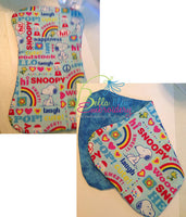 In the Hoop Baby Burp cloth Embroidery Applique design machine 3 sizes