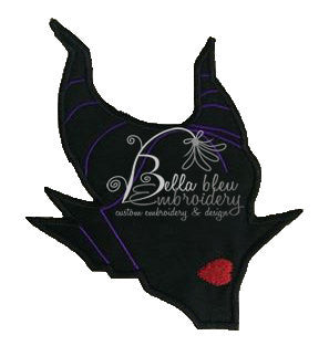 Evil Villain Maleficent Silhouette Applique Embroidery Designs Design