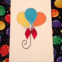 Birthday Party Balloons Embroidery Applique designmachine embroidery