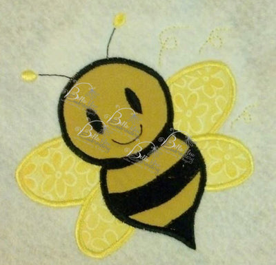 Bumble Bee Applique Embroidery Designs Design 4 sizes