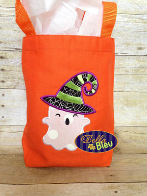Halloween Ghost Witch Machine Applique Embroidery Design