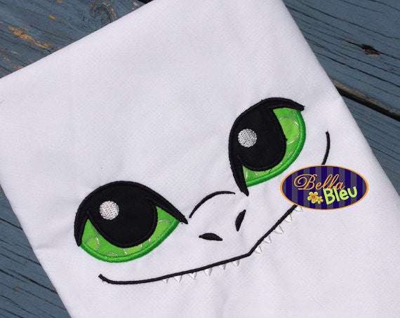 Dragon Eyes Machine Applique Embroidery Designs for Towel or Tee
