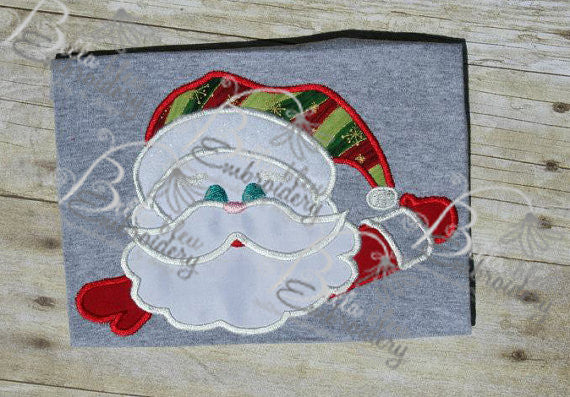 Santa Claus Face Machine Applique Embroidery Design