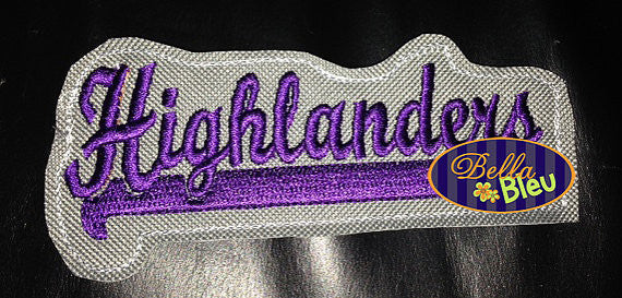 ITH in the hoop Highlanders Sports Headband Slider Topper machine embroidery