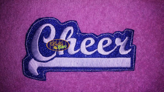 ITH in the hoop Cheer Cheerleading Headband Slider Topper machine embroidery