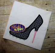 Sexy Golf Stiletto Heels Applique Embroidery Designs Design Monogram