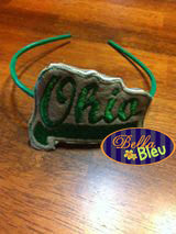 ITH in the hoop Ohio Sports Headband Slider Topper machine embroidery