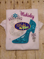 Sexy Snowflake Christmas Holiday Frozen Heels Applique Embroidery Design
