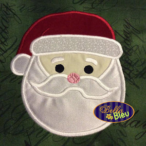 Adorable Christmas Santa Face Machine Applique Embroidery Design