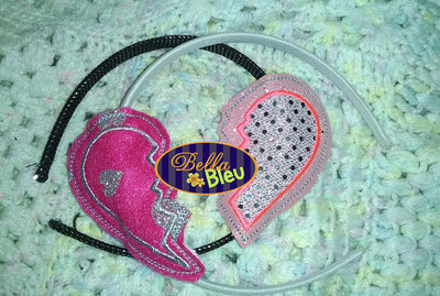 In the Hoop Split Best Friends Valentine Heart Headband Slider Topper