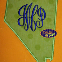 Nevada State Applique Embroidery Design Monogram