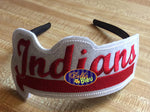 ITH in the hoop 'sports Mascot Indians Headband Slider Topper machine embroidery