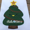 Kawaii Christmas Tree Applique Machine Embroidery Design
