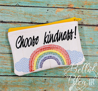 ITH Choose Kindness sketchy rainbow Zipper bag wallet