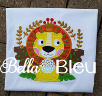 King of the Jungle Lion Monogram Applique Machine Embroidery Design