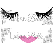 Lashes & Lips Sublimation png file