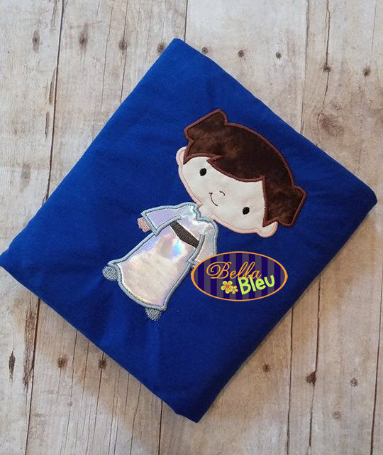 Princess Leah Leia Applique Embroidery Designs Design Inspired Star Wars Geek Geeky
