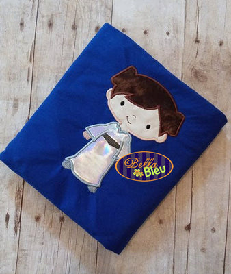 Inspired Princess Leah Leia Applique Embroidery Designs Design Inspired Star Wars Geek Geeky