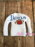 ITH Lions Football Elf Sweater Shirt Machine Embroidery Design