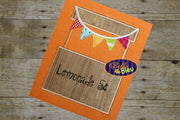 Lemonade Stand Applique