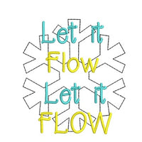 "Christmas Funny Saying ""Let it Flow ""Toilet Paper Machine Embroidery Design"