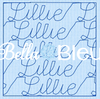 Stipple Name Lillie  Quilting Stitch Machine Embroidery Design