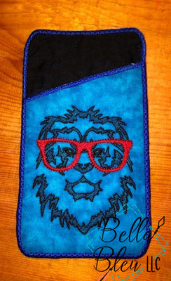Sketchy Lion with Glasses Machine Embroidery design