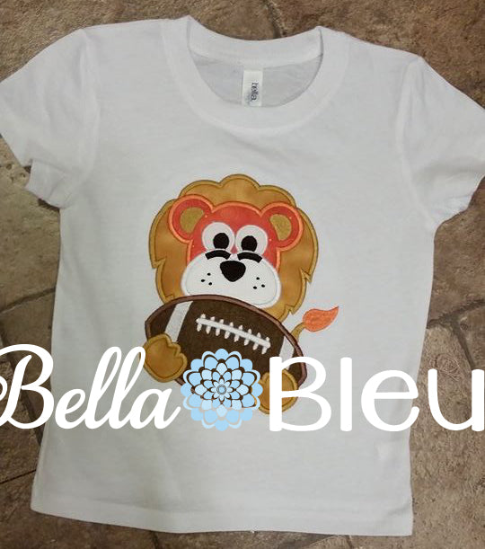 Lions Football Mascot, Lion Football Mascot Applique machine embroidery design