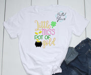 Little Miss Pot of Gold St Patricks Design