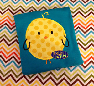 Adorble Little Easter Chick Embroidery Applique design Easter machine embroidery