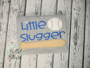 Little Slugger Softball Baseball Bat Ball Machine Applique Embroidery Design
