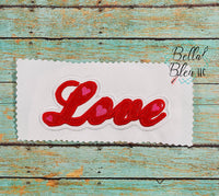 Love Word Applique Valentines Day Embroidery design