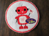 Valentine's Day Love Robot Applique embroidery design